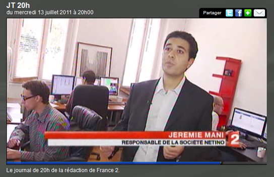Reportage au 20h de France 2