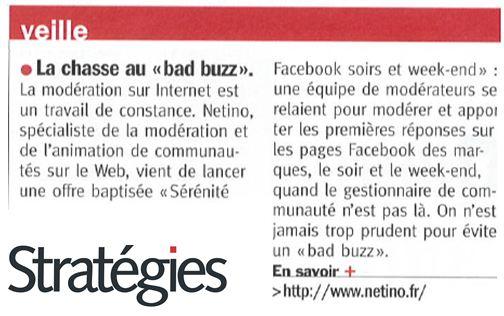 """Stratégies Magazine : Chasse au """"bad buzz"""""""