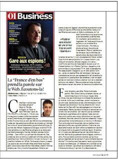 """Tribune """"La France d'en bas prend la parole sur le Web. Ecoutons-la !"""" dans 01Business"""