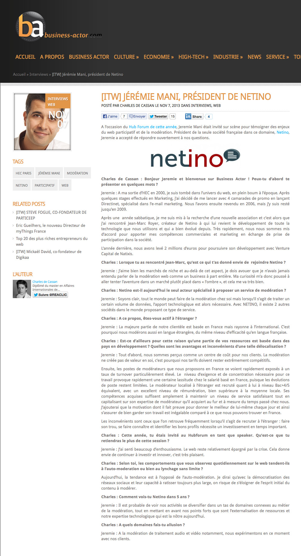 Jeremie-Mani-interview-Netino-Business-Actorhub-forum