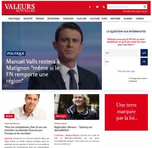 En Homepage de ValeursActuelles.com, sur les complotistes