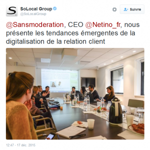 Intervention de Netino au Social Media Club, chez Solocal