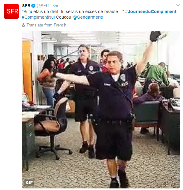 Tweet SFR JDC
