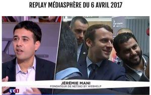 Jérémie Mani, CEO de Netino by Webhelp, invité dans Médiasphère (LCI)