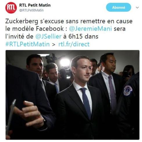 Jérémie Mani était l'invité de RTL Petit Matin après l'audition de Mark Zuckerberg