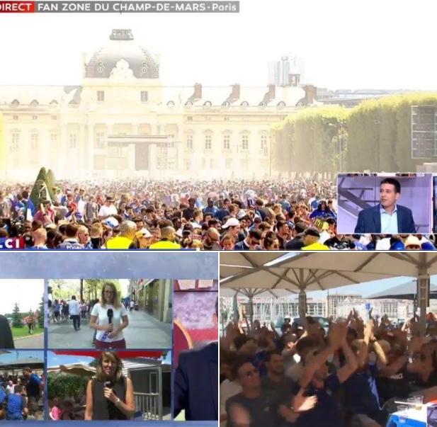 Jérémie Mani, présent sur LCI pour parler de la Coupe du Monde sur les réseaux sociaux