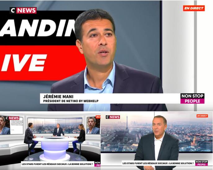 Jérémie Mani sur les plateaux de CNEWS