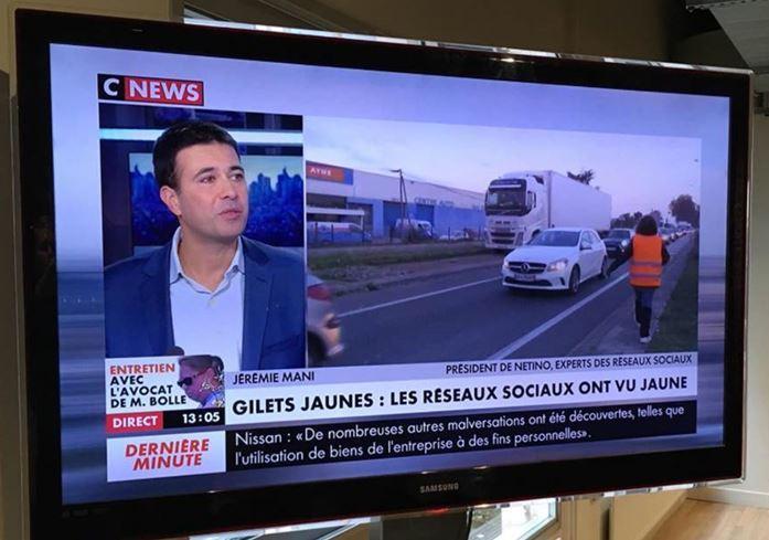 Jérémie Mani, sur CNews à propos des Gilets Jaunes sur les réseaux sociaux