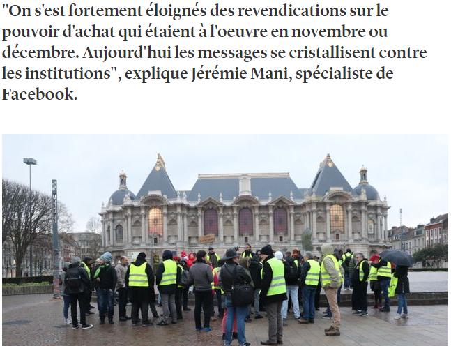 «Les commentaires Facebook sur les gilets jaunes parlent plus de politique, moins de pouvoir d'achat» explique Jérémie Mani pour France Inter