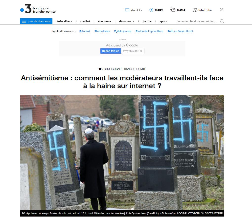Jérémie Mani, CEO de Netino by Webhelp répond à la question : comment les modérateurs travaillent-ils face à la haine sur internet ?