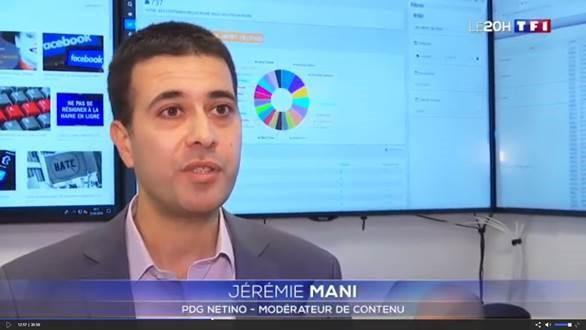 Jérémie Mani au JT de 20h de TF1