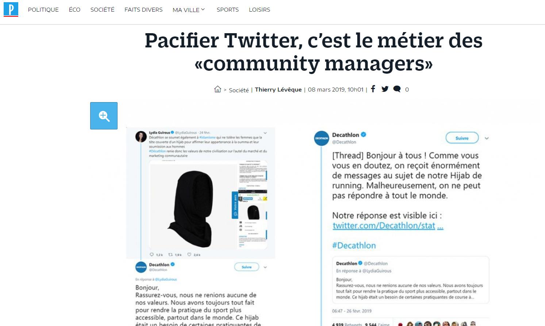 Netino by Webhelp cité dans Le Parisien, au sujet du community management des marques