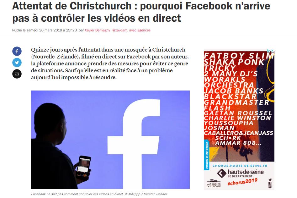 Facebook et le contrôle des vidéos en direct : Jérémie Mani répond aux interrogations de France Inter