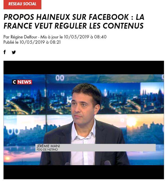 Mark Zuckerberg à l'Elysée : J. Mani réagit à la volonté de la France de réguler ses contenus Facebook