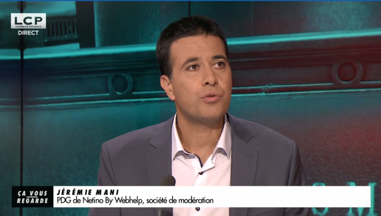 Jérémie Mani répond aux questions de LCP sur la haine en ligne